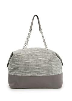 TOUCH - Lurex bouclé tote bag