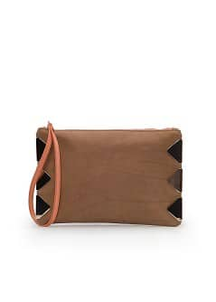 TOUCH - Appliqué leather pouch