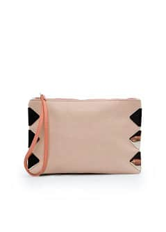 TOUCH - Pochette cuir appliqus mtalliques
