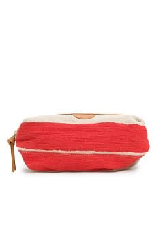 TOUCH - Canvas striped cosmetic bag