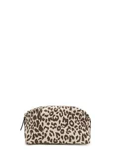 TOUCH - Canvas leopard cosmetic bag