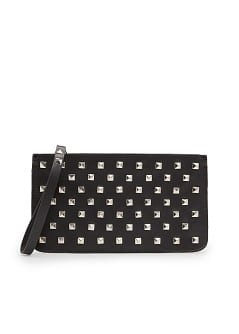 TOUCH - Studded leather pouch