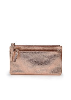 TOUCH - Metallic leather cosmetic bag