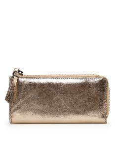 TOUCH - Metallic leather wallet