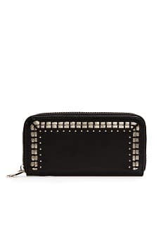 TOUCH - Metallic embellishment leather wallet