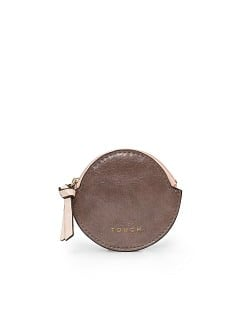 TOUCH - Rounded leather coin purse
