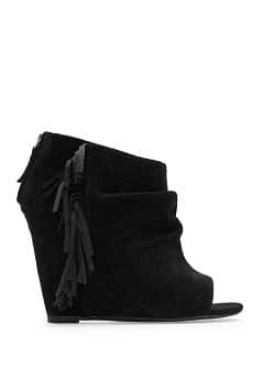 TOUCH - Fringed suede ankle boot