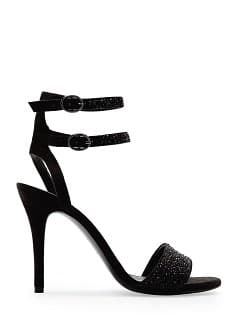 TOUCH - Crystals suede sandal