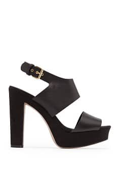 TOUCH - Leather and suede sandals