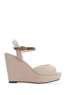 TOUCH - Wedge sandals snake strap