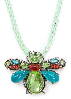 TOUCH - Crystals insect necklace