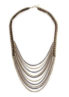 TOUCH - Strass cascading effect necklace