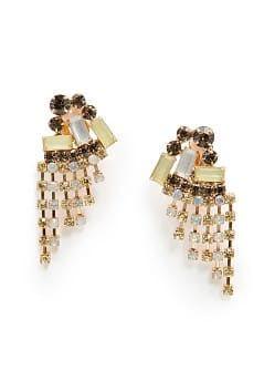 TOUCH - Cascading crystals earrings