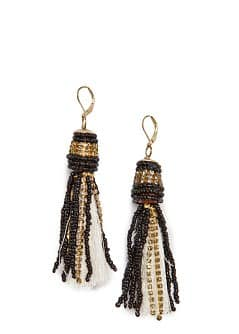TOUCH - Beaded tassel earrings