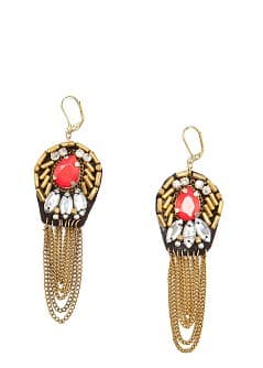 TOUCH - Stones and chains earrings