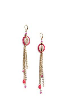 TOUCH - Boucles oreille strass coquille
