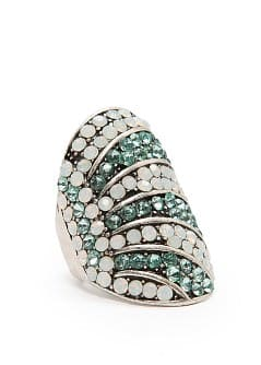 TOUCH - Two-tone crystals ring