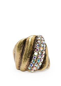 TOUCH - Crystals embossed ring