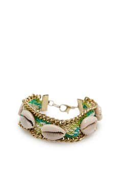 TOUCH - Pulsera trenzada conchas