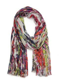 TOUCH - Multicolour print foulard