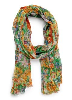 TOUCH - Floral print foulard