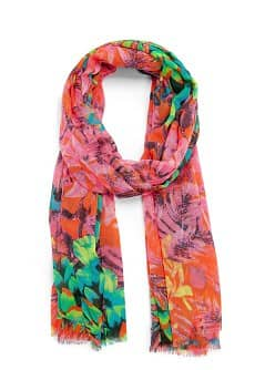 TOUCH - Tropical print foulard