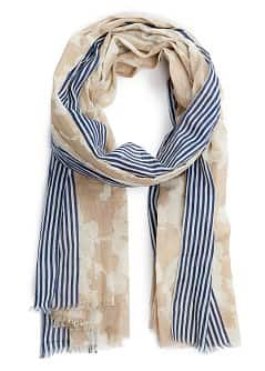 TOUCH - Foulard liser rayures