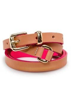 TOUCH - Double wrap leather belt