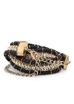 TOUCH - Crystal embellished draw cord belt