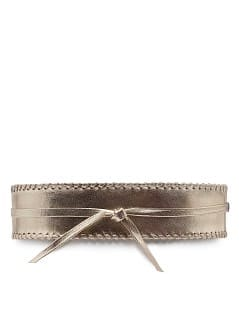 TOUCH - Leather braided sash belt