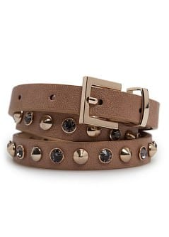 TOUCH - Crystals and studs belt