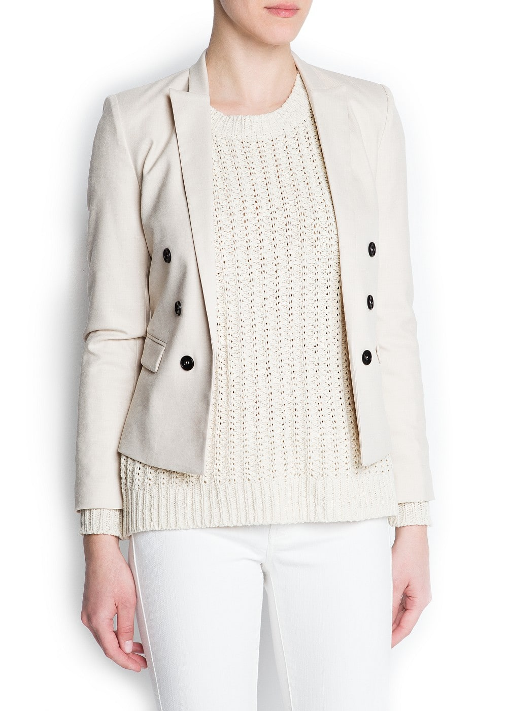 Decorative buttons blazer | MANGO