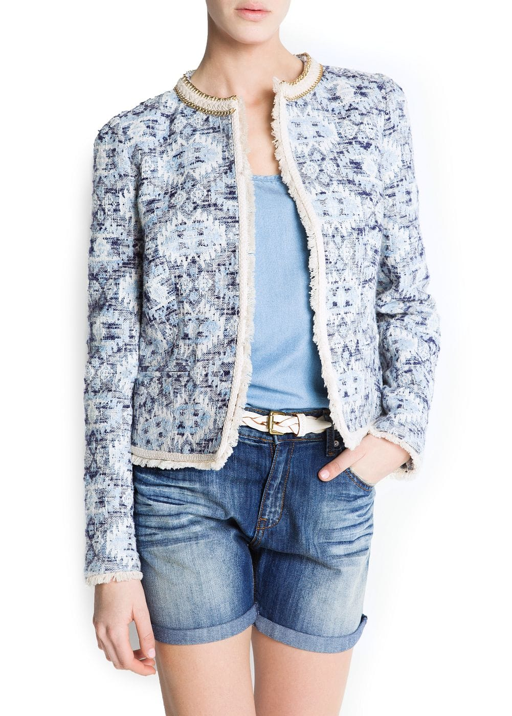 Ethnic fabric jacket