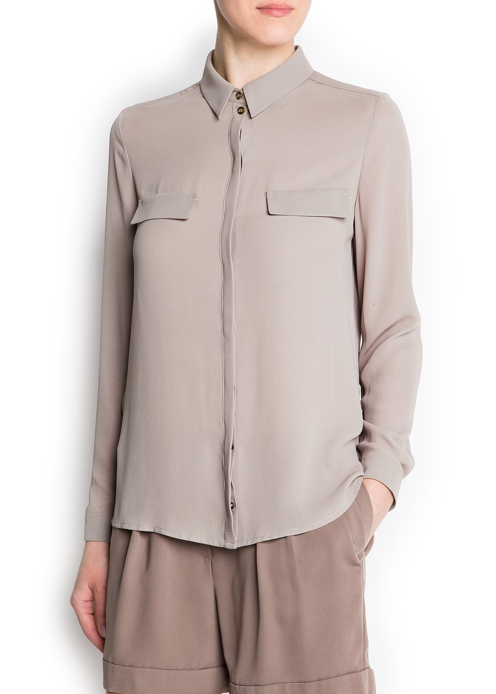 Loose-fit sheer blouse
