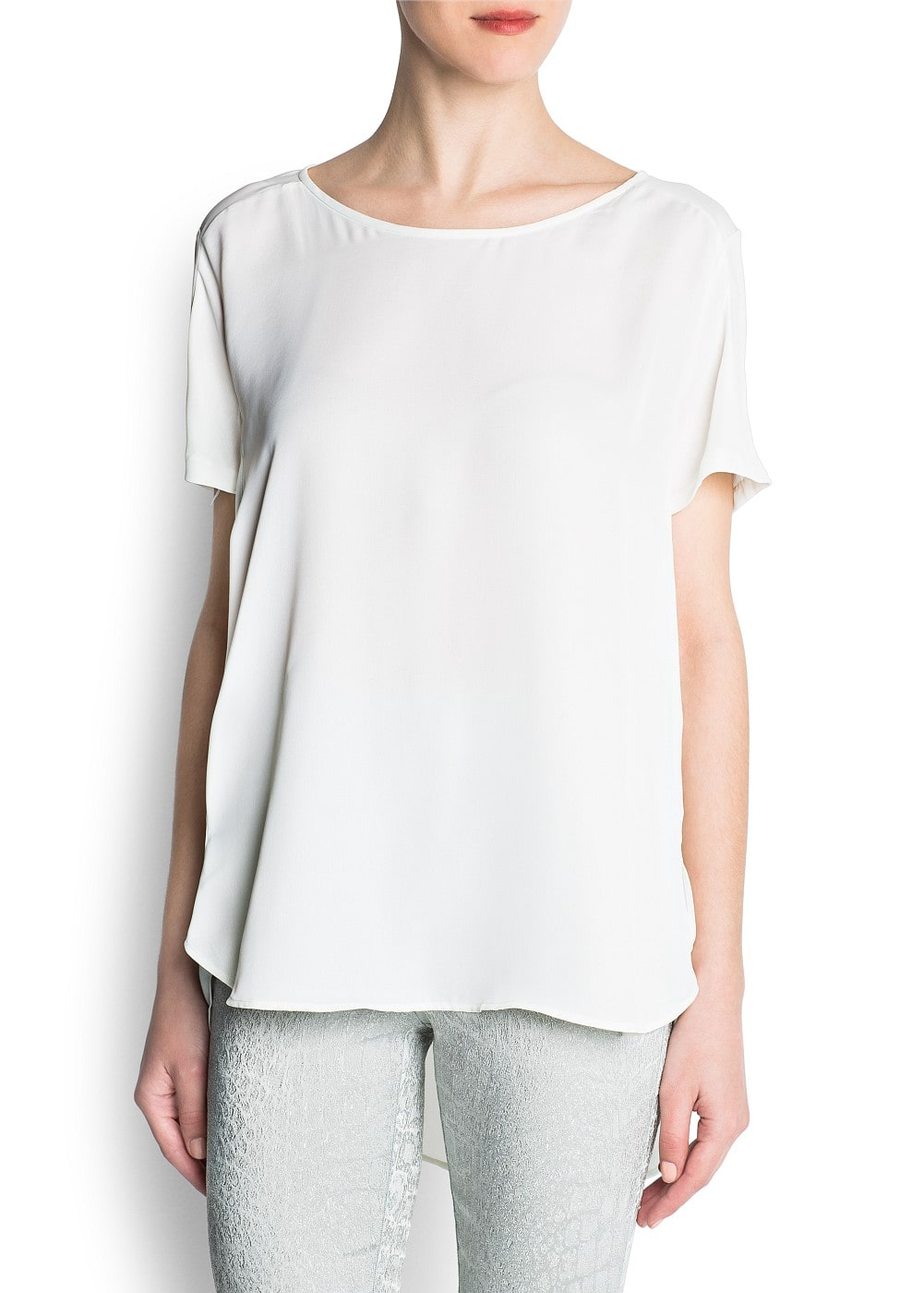 Asymmetric hems blouse
