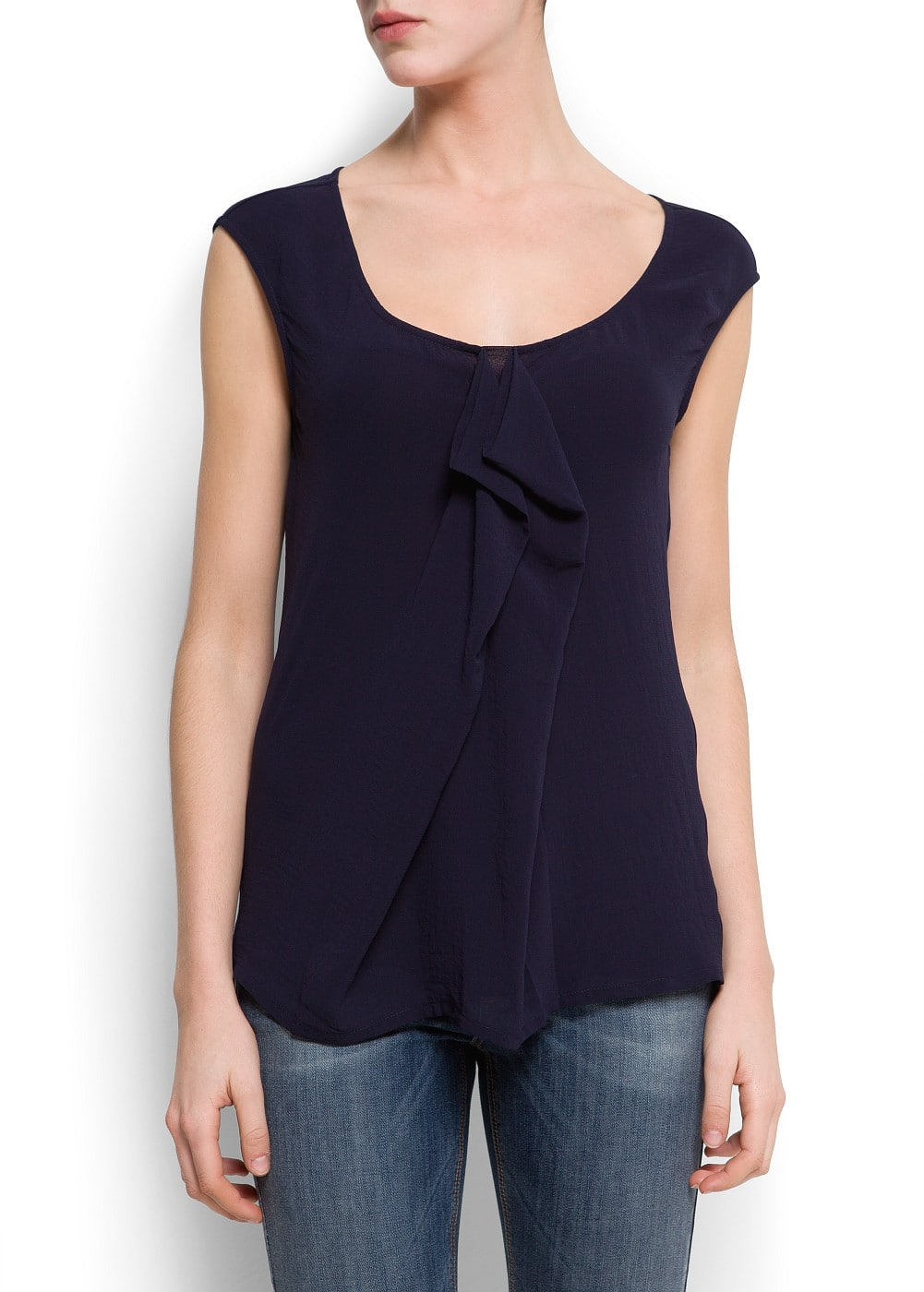 Cascading pleat blouse