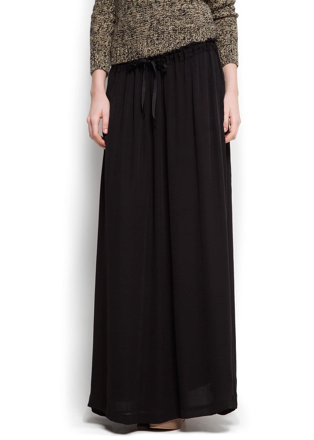Sheer long skirt | MANGO