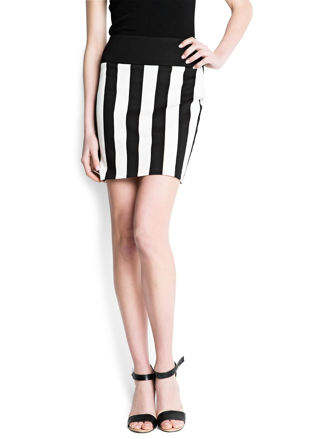 Striped bodycon skirt | MANGO