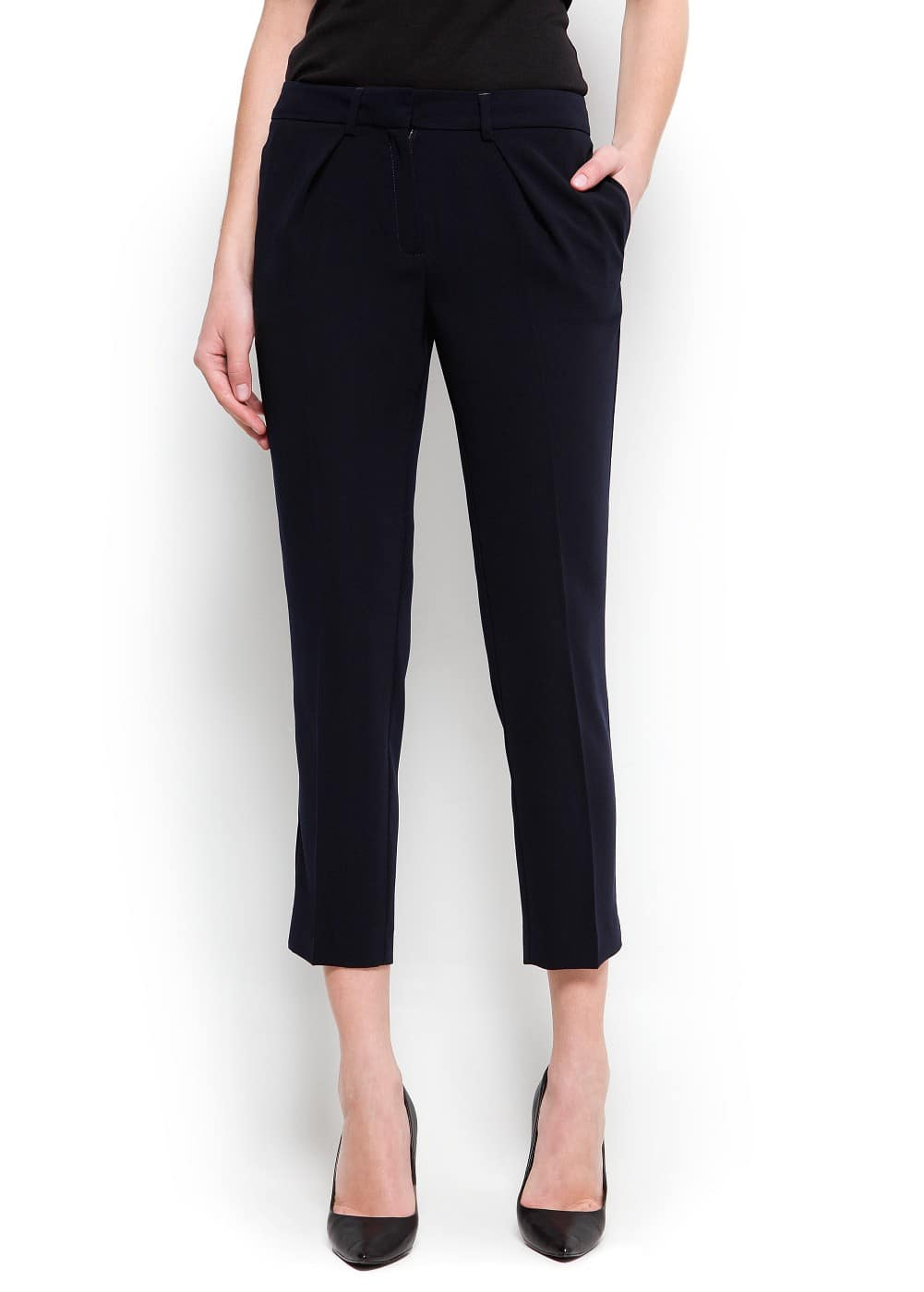 Cropped suit trousers | MANGO