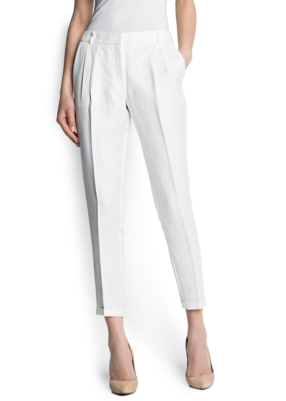 Tailored tapered trousers