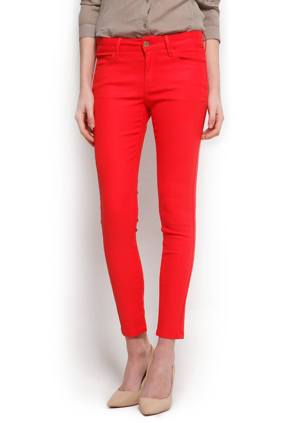 Coated super slim jeans | MANGO