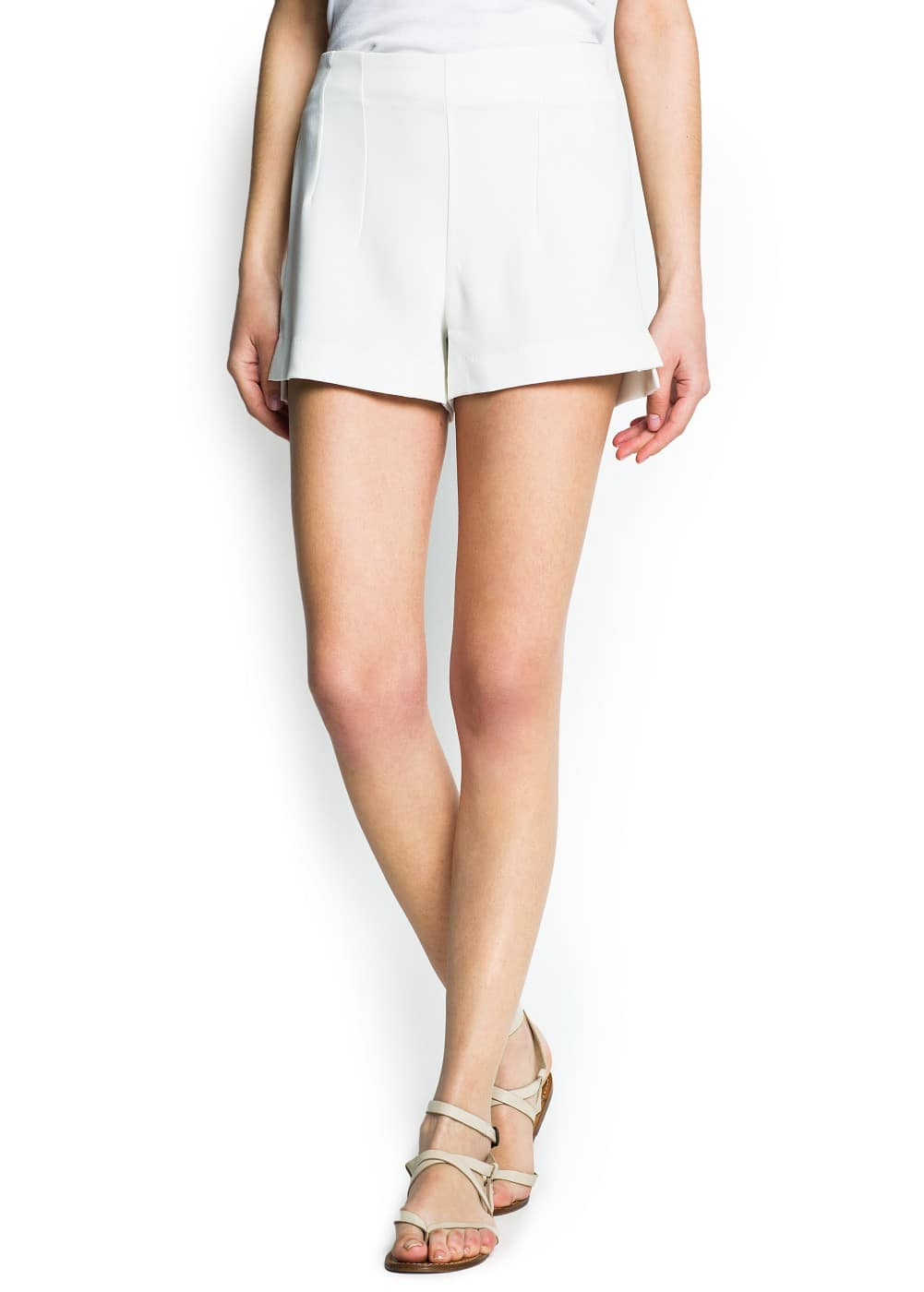 Side slits crepe shorts | MANGO