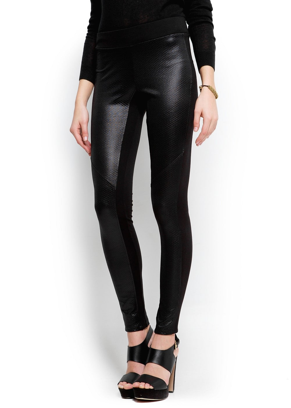 Shiny panel leggings