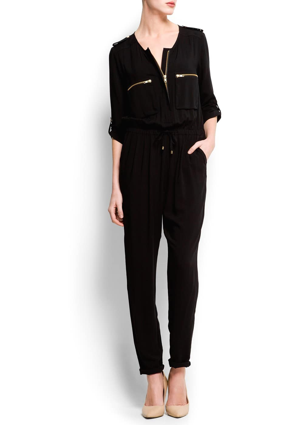 Long jumpsuit zippers