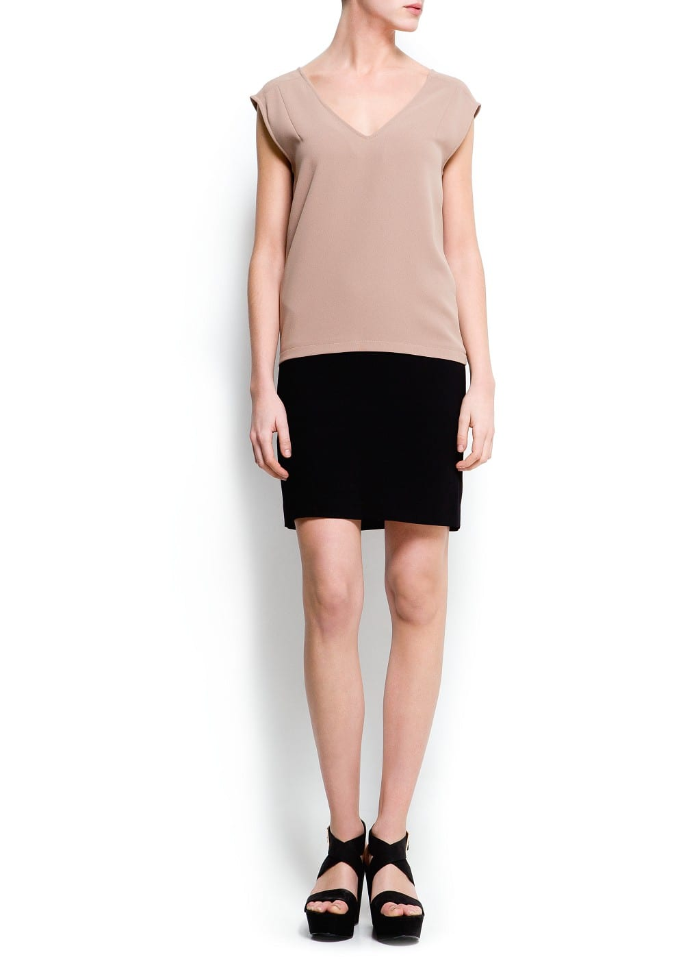 Two-tone dress | MANGO