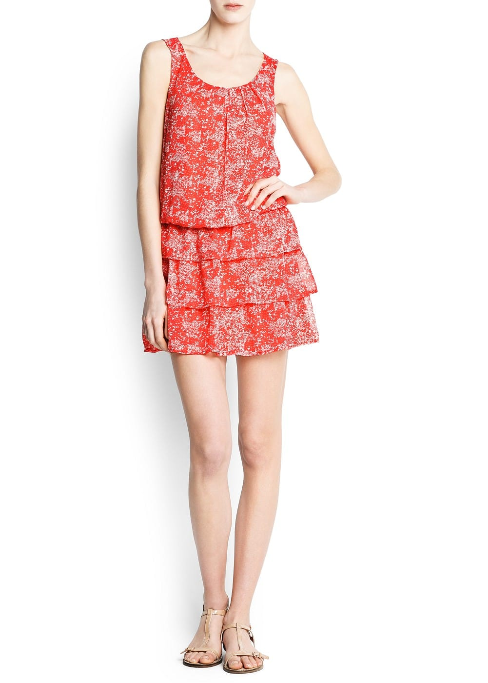 Ruffled floral dress | MANGO
