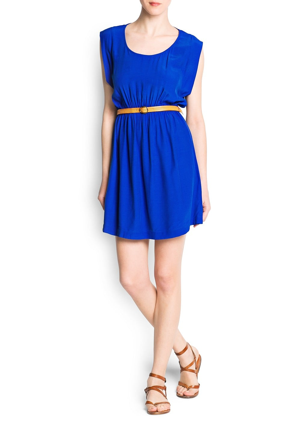 Embossed belt dress | MANGO