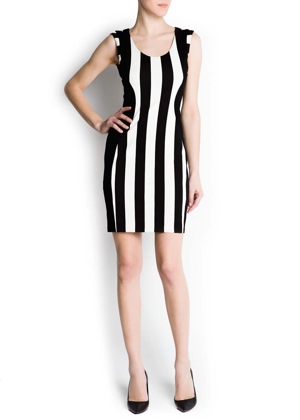 Vertical stripes dress