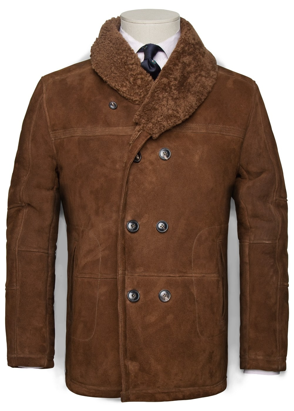SUEDE SHORT-COAT