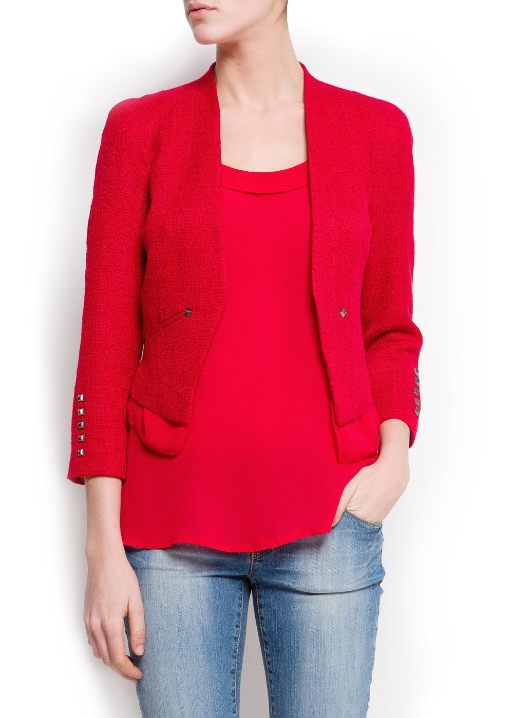 Bouclé cropped jacket